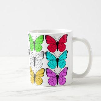 Schwarzweiss-Schmetterlingsentwurf Kaffeetasse