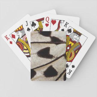 Schwarzweiss-Schmetterlingsflügel Spielkarten