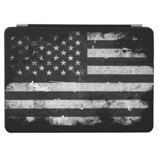 Schwarzweiss-Schmutz-amerikanische Flagge iPad Air Cover