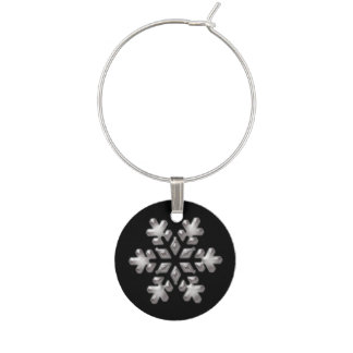 Schwarzweiss-Schneeflocke-Weihnachtsfeiertag Glasmarker