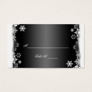 Schwarzweiss-Schneeflocken, die Platzkarten Visitenkarte