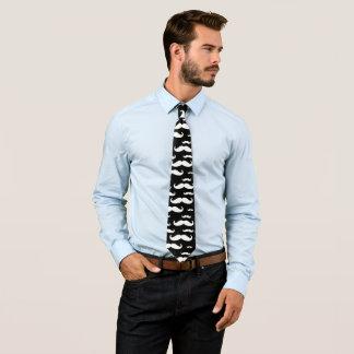Schwarzweiss-Schnurrbart-Muster Krawatte