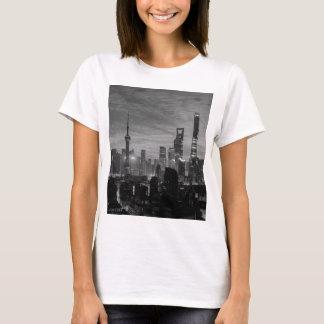 Schwarzweiss-Shanghai T-Shirt