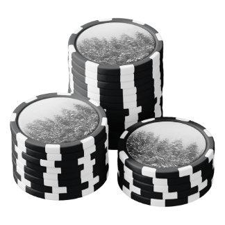 Schwarzweiss-Snowy-Kiefer Poker Chip Set