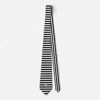 Schwarzweiss-Stängel-Druck Krawatte