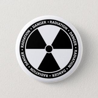 Schwarzweiss-Strahlungs-Symbol-Knopf Runder Button 5,1 Cm
