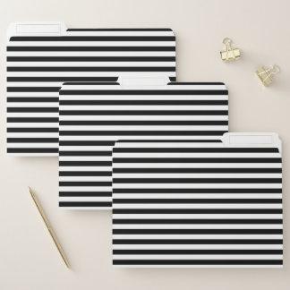 Schwarzweiss-Streifen Papiermappe