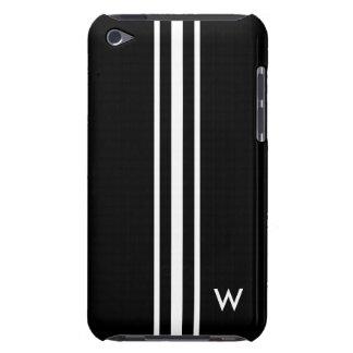 Schwarzweiss-Streifen | personalisiert Barely There iPod Hülle