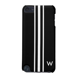 Schwarzweiss-Streifen | personalisiert iPod Touch 5G Hülle