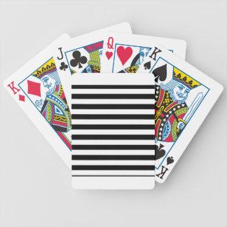 Schwarzweiss-Streifen-  Striped Entwurf Bicycle Spielkarten