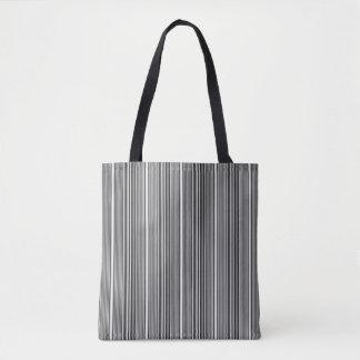 Schwarzweiss-Streifen Tasche