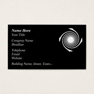 Schwarzweiss-Strudel-Entwurf Visitenkarte