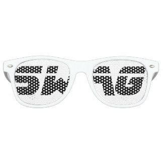 Schwarzweiss-Swag-Party-Gläser Sonnenbrille
