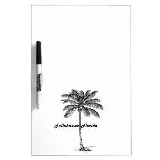 Schwarzweiss-Tallahassee- u. Palmenentwurf Memoboard