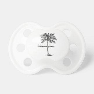 Schwarzweiss-Tallahassee- u. Palmenentwurf Schnuller