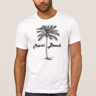 Schwarzweiss-Tallahassee- u. Palmenentwurf T-Shirt