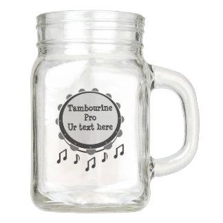Schwarzweiss-Tambourine Einmachglas
