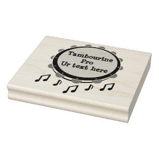 Schwarzweiss-Tambourine Gummistempel