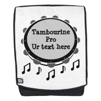 Schwarzweiss-Tambourine Rucksack