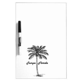 Schwarzweiss-Tampa- u. Palmenentwurf Memoboard
