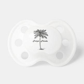 Schwarzweiss-Tampa- u. Palmenentwurf Schnuller