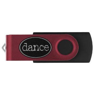 Schwarzweiss-Tanz-Oval USB Stick