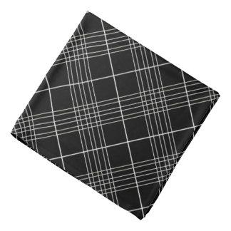 Schwarzweiss-Tartan-kariertes überprüftes Muster Halstuch