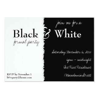 Schwarzweiss-Thema-Party Einladung