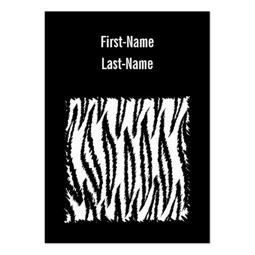 Schwarzweiss-Tiger-Druck-Muster Visitenkarten Vorlage