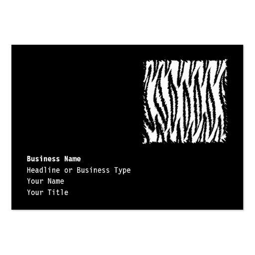 Schwarzweiss-Tiger-Druck-Muster Visitenkarte