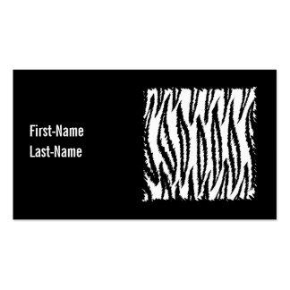 Schwarzweiss-Tiger-Druck-Muster Visitenkarten