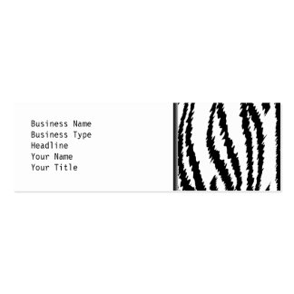 Schwarzweiss-Tiger-Druck. Tiger-Muster Mini-Visitenkarten