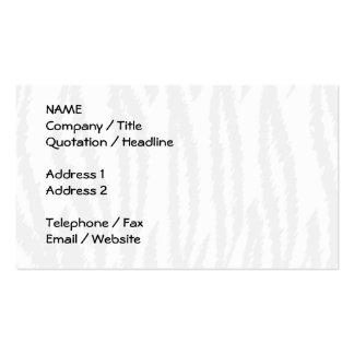 Schwarzweiss-Tiger-Druck. Tiger-Muster Visitenkarten Vorlagen