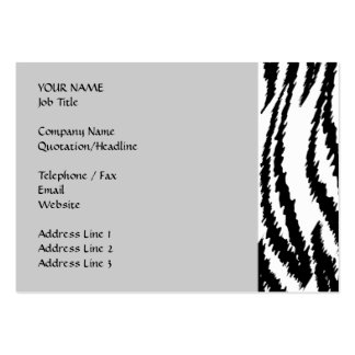 Schwarzweiss-Tiger-Druck Tiger-Muster Visitenkartenvorlagen