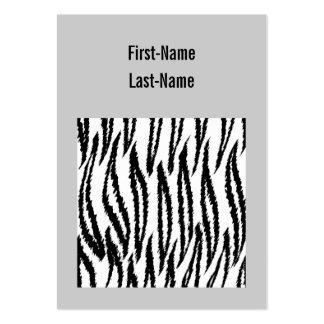 Schwarzweiss-Tiger-Druck. Tiger-Muster Visitenkartenvorlage