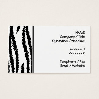 Schwarzweiss-Tiger-Druck. Tiger-Muster Visitenkarte