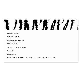 Schwarzweiss-Tiger-Druck. Tiger-Muster Visitenkarten Vorlage