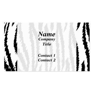 Schwarzweiss-Tiger-Druck. Tiger-Muster Visitenkarten