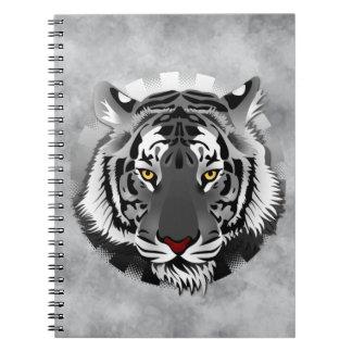 Schwarzweiss-Tiger Notizblock