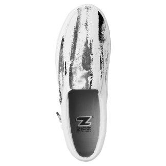 Schwarzweiss-Tiger Stripes Unisexturnschuhe Slip-On Sneaker