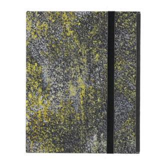 Schwarzweiss-Tinte auf gelbem Hintergrund Etui Fürs iPad