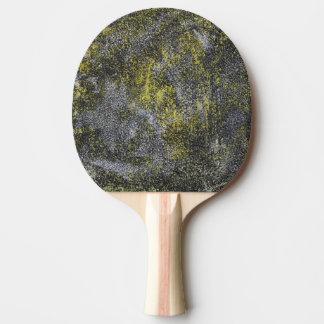 Schwarzweiss-Tinte auf gelbem Hintergrund Tischtennis Schläger