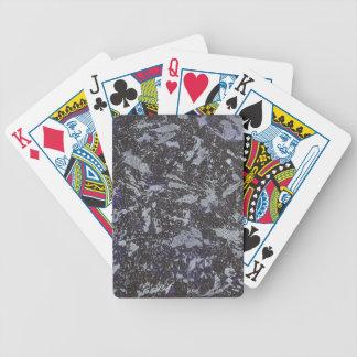 Schwarzweiss-Tinte auf lila Hintergrund Bicycle Spielkarten