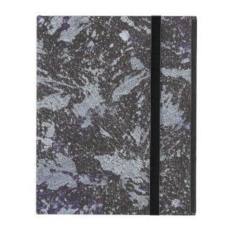 Schwarzweiss-Tinte auf lila Hintergrund Hülle Fürs iPad