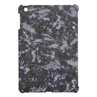 Schwarzweiss-Tinte auf lila Hintergrund iPad Mini Hülle