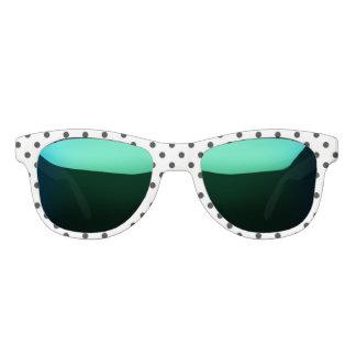 Schwarzweiss-Tupfen Brille