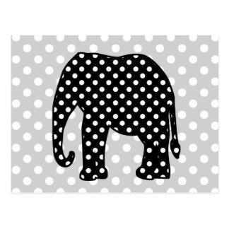 Schwarzweiss-Tupfen-Elefant Postkarte