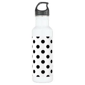 Schwarzweiss-Tupfen-Muster Edelstahlflasche