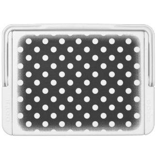 Schwarzweiss-Tupfen-Muster Igloo Kühlbox