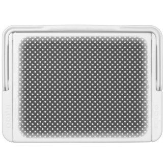 Schwarzweiss-Tupfen-Muster Kühlbox